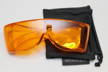 Orange premium wraparound viewing glasss