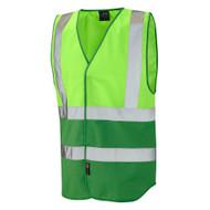 Leo Pilton Two-Tone Reflective Vest - Lime (W05-LM/GN)