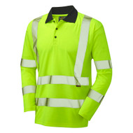 Leo Comfort Hi-Vis Long Sleeve Polo (P05-Y)
