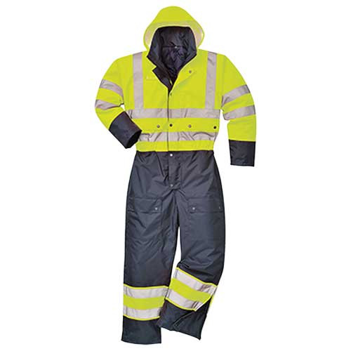Hi-Vis Contrast Lined Coverall (S485)