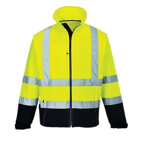 Hi-Vis Contrast Softshell Jacket (S425)
