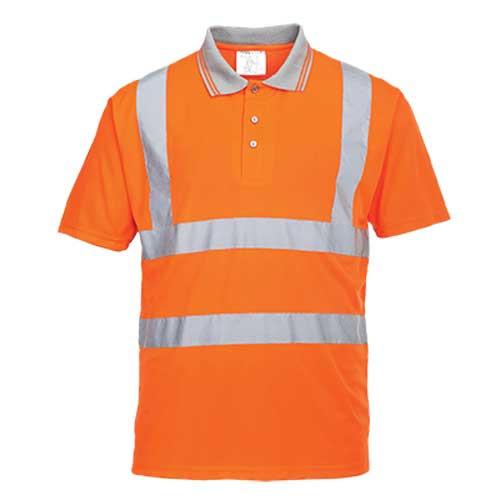 Hi-Vis Short Sleeved Polo Shirt GO/RT (RT22)
