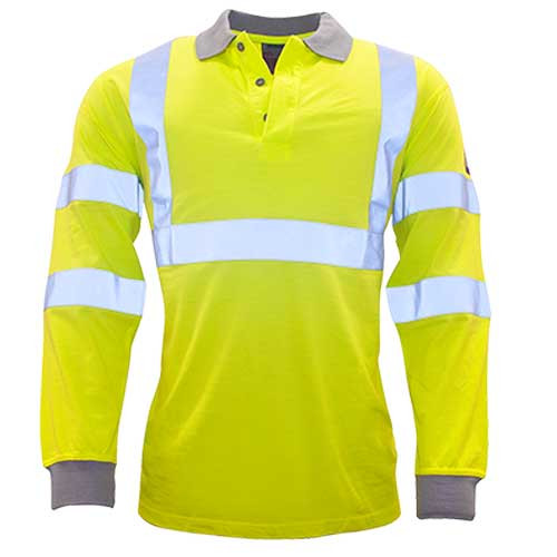 Modaflame Hi-Viz Anti Static FR Long Sleeve Polo (FR77)
