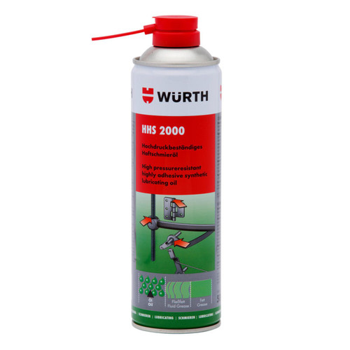 Wurth HHS 2000 Adhesive Lubricant 500ml - 089310610