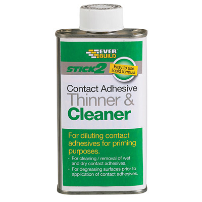 Everbuild Stick 2 Adhesive Thinner & Cleaner 250ml (EVBCONTHIN25)