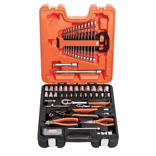 "Bahco 1/4"" & 3/4"" Socket, Spanner & Pliers Set - 81 pc Metric (BAHS81MIX)"