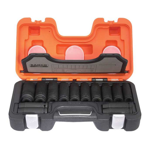 "Bahco 1/2"" Deep Impact Socket Set - 14 pc Metric (BAHDDS14 )"