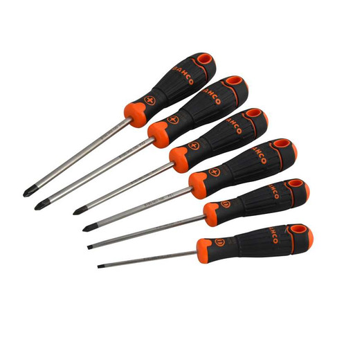 Bahco Fit Screwdriver Set - 6 pc Slotted/Phillips/Pozi (BAHB219026)