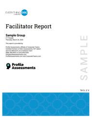 DiSC® Facilitators Report