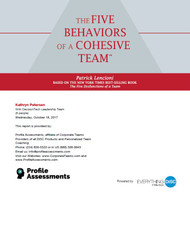 Five Behaviors of a Cohesive Team™ - Powered by DiSC®