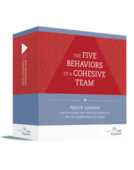Five Behaviors of a Cohesive Team™ - Powered by All Types™ Facilitation Kit