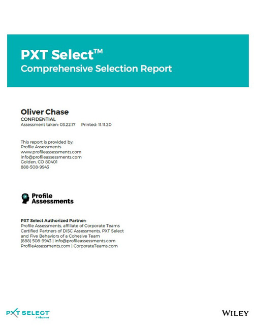 PXT Select: Comprehensive Selection Report