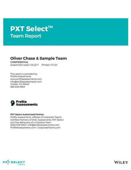 PXT Select: Team Report