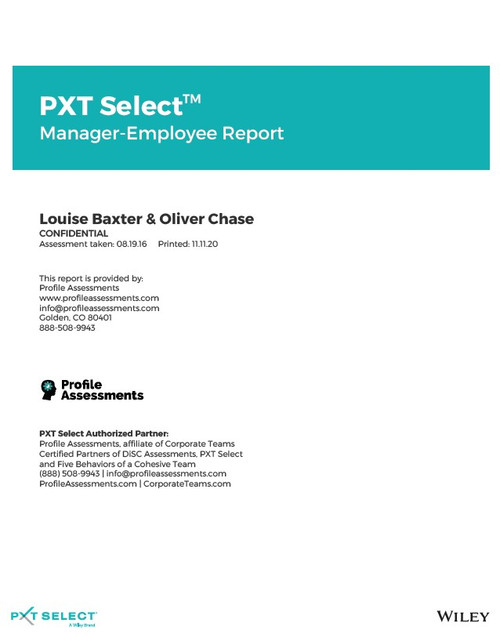 PXT Select: Manager-Employee Report
