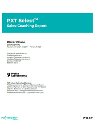 PXT Select Sales: Coaching Report from Profile Assessments