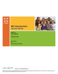 MBTI® Interpretive Report, College Edition (Step I)