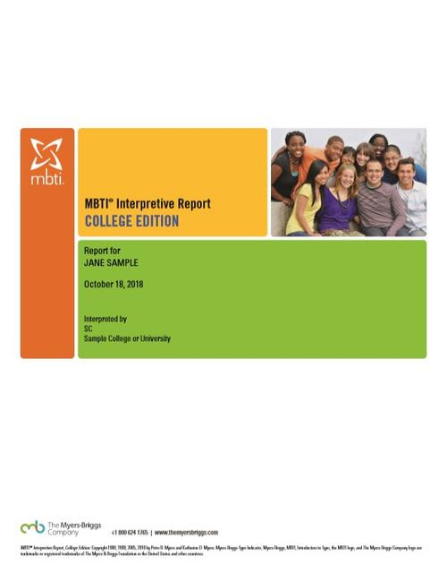 MBTI® Interpretive Report, College Edition (Step I)