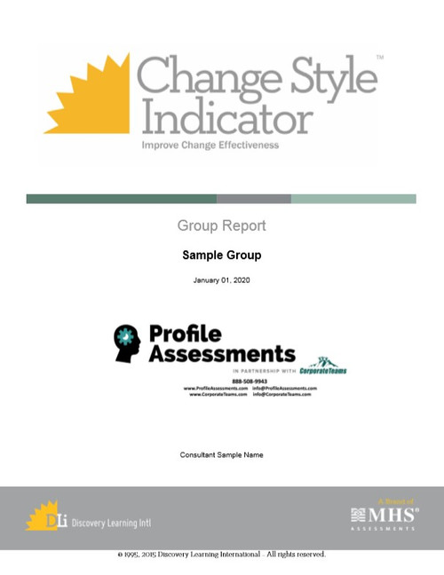 Change Style Indicator Group Report