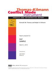 TKI Conflict Mode Instrument Report