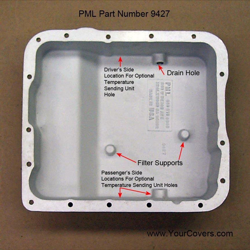 Transmission Deep Oil Pan 4L60E 4L65E Late Type W- Step New HD As-Cast  Aluminum