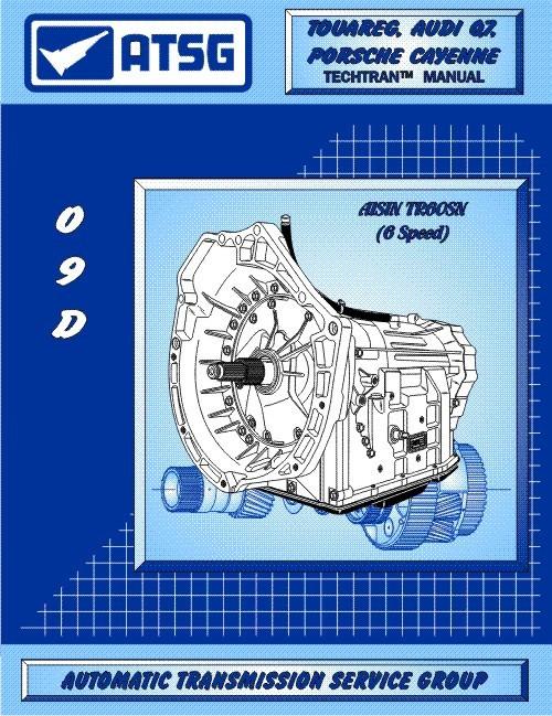 ATSG Tech Manual 09D TR60SN VW Porsche Audi Repair Rebuild Book