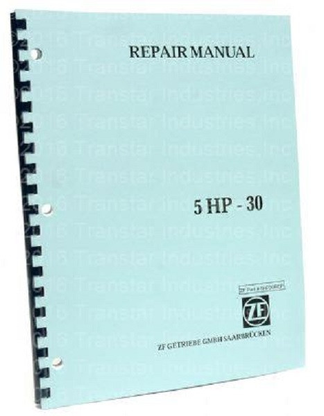 ZF5HP30 BMW Auto Transmission New OEM ZF Repair Manual Guide Book 5HP30 5  HP30