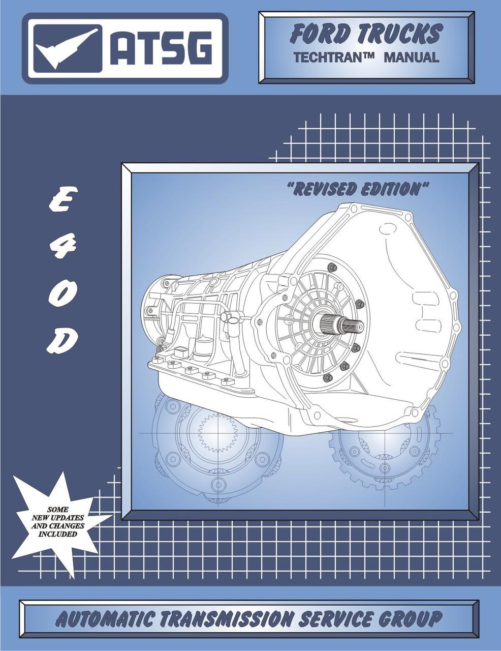 ATSG Tech Manual E4OD Ford Lincoln 1989-On Repair Guide Book Automatic