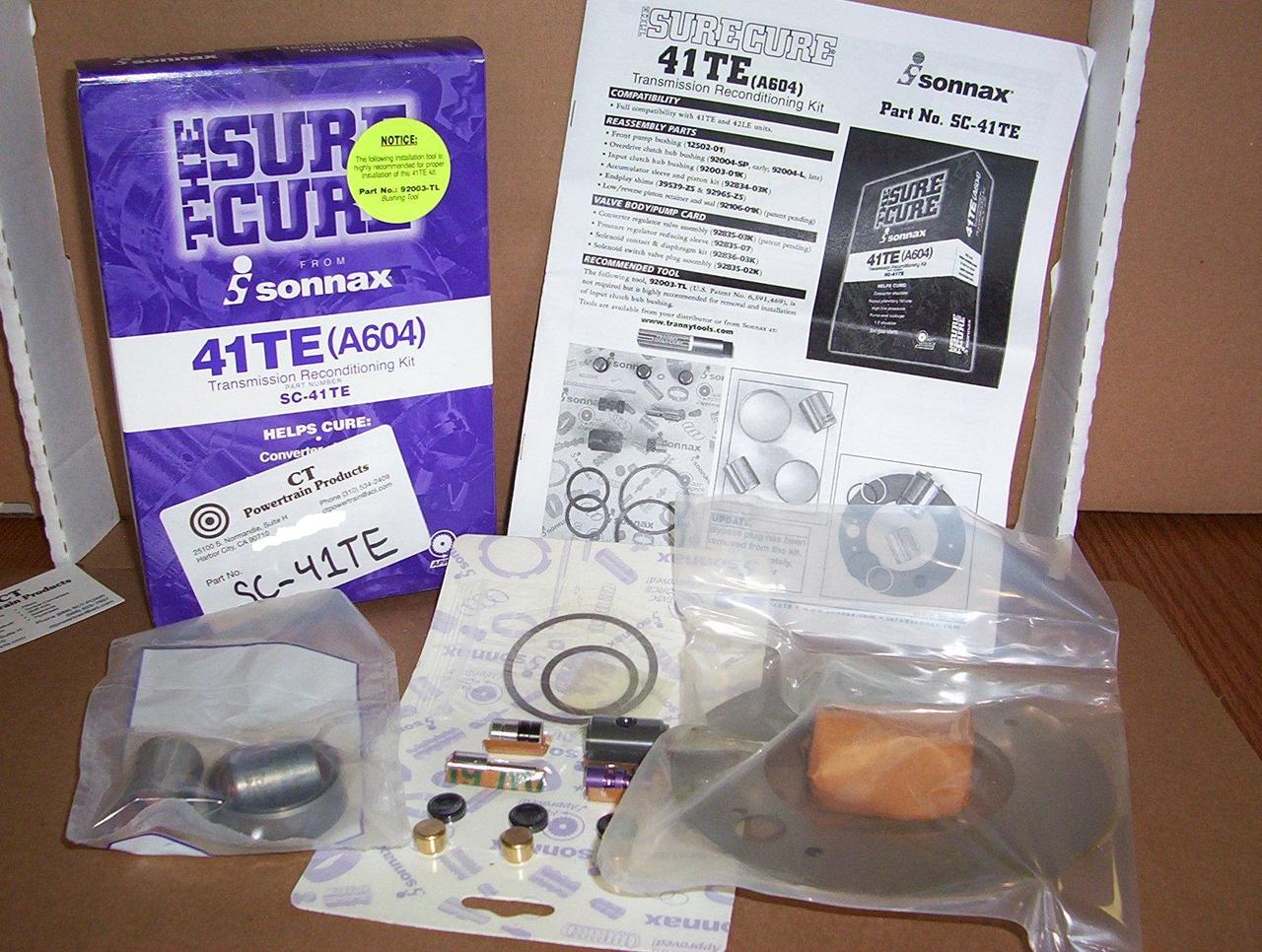 SC-41TE Sonnax Sure Cure Reconditioning Kit A604 41TE 42LE A606 Chrysler  604 606