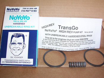 NoYoYo hardened steel pump rings and priming springs.