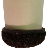"1-1/4"" Brown Formed Felt Round Peel N Sticks"