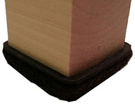 "1-1/4"" Brown Formed Felt Square Peel N Sticks"