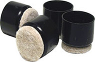 "Madico 1""  Black Fused Felt Plastic Leg Tips"