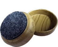 "Madico 2-3/8"" Plastic Woodgrain Effect Cups (felt base)"