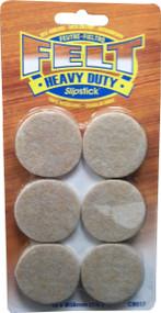 "Slipstick 1-1/2"" Round Oatmeal Peel N Sitck Felt Pads 12pc. (CB017)"
