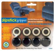 "Slipstick 1"" Black Small Recliner Gripper Feet 8 pc. (CB260)"