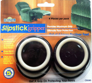 "Slipstick 1.5"" Black Large Recliner Gripper Feet 4 pc. (CB380)"