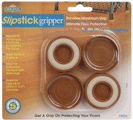 "Slipstick 1-3/4"" Caramel Gripper Leg Coasters 4pc. (CB520)"