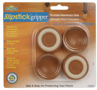 "Slipstick 1-3/4"" Caramel Gripper  Coasters Cups 4pc. (CB600)"