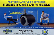 "Slipstick 5 - 2"" Rubber Replacement Caster Wheels(CB680)"