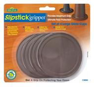 "Slipstick 3-1/4"" Large Chocolate Glide Cups 4 pc. (CB885)"