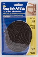 "Waxman 1/2"" x  60""  Felt Strip, Brown"