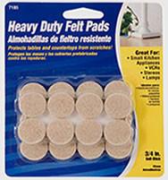 """Waxman 3/4"""" Oatmeal Heavy Duty Felt Pads"""