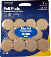 "Waxman 1"" Value Pack Oatmeal Heavy Duty Felt Pads"