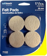 "Waxman 1-1/2"" Oatmeal Heavy Duty Felt Pads 8 pieces"