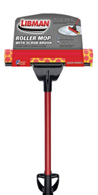"Libman 12"" Roller Mop With Scrub Brush"