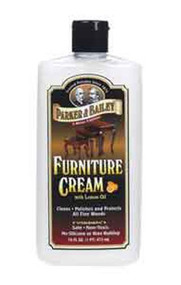 Parker & Bailey 16 oz Furniture Cream w/ Lemon Oil Bottle