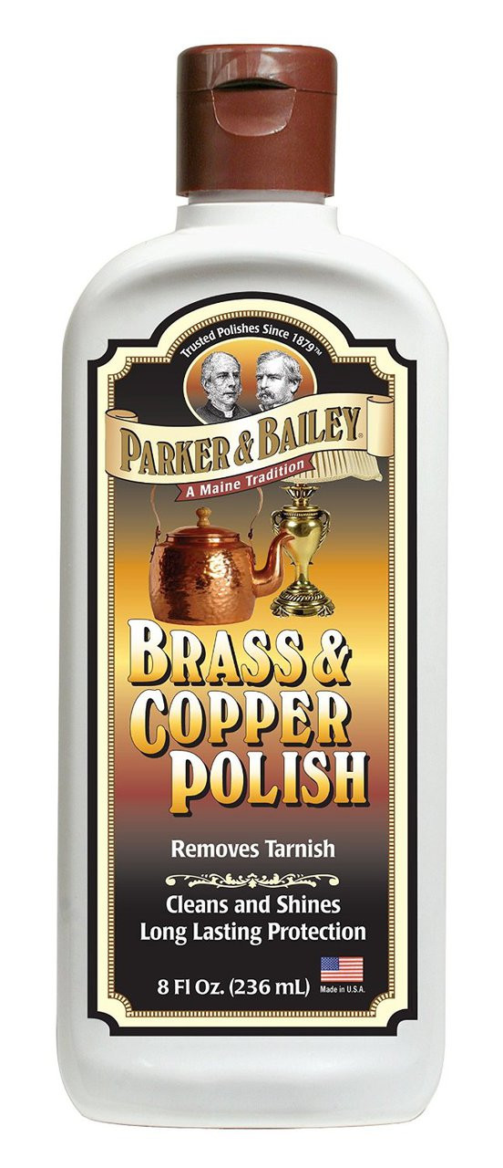 Parker Amp Bailey 8 Oz Brass Amp Copper Polish Bottle The