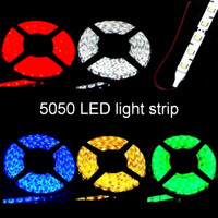 5050 LED strip with lead wires 12V waterproof