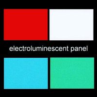 A6 electro-luminescent panel with leads and connector