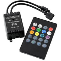 Sound activated RGB LED controller with 20-key remote
